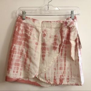 NWT FREE PEOPLE Tie Dye Wrap Ann Reed Skirt Size 0